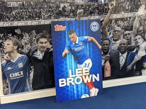 Wembley 2021 Dressing Room Locker Hand Signed Topps Card - Lee Brown
