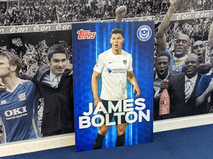 Wembley 2021 Dressing Room Locker Hand Signed Topps Card - James Bolton