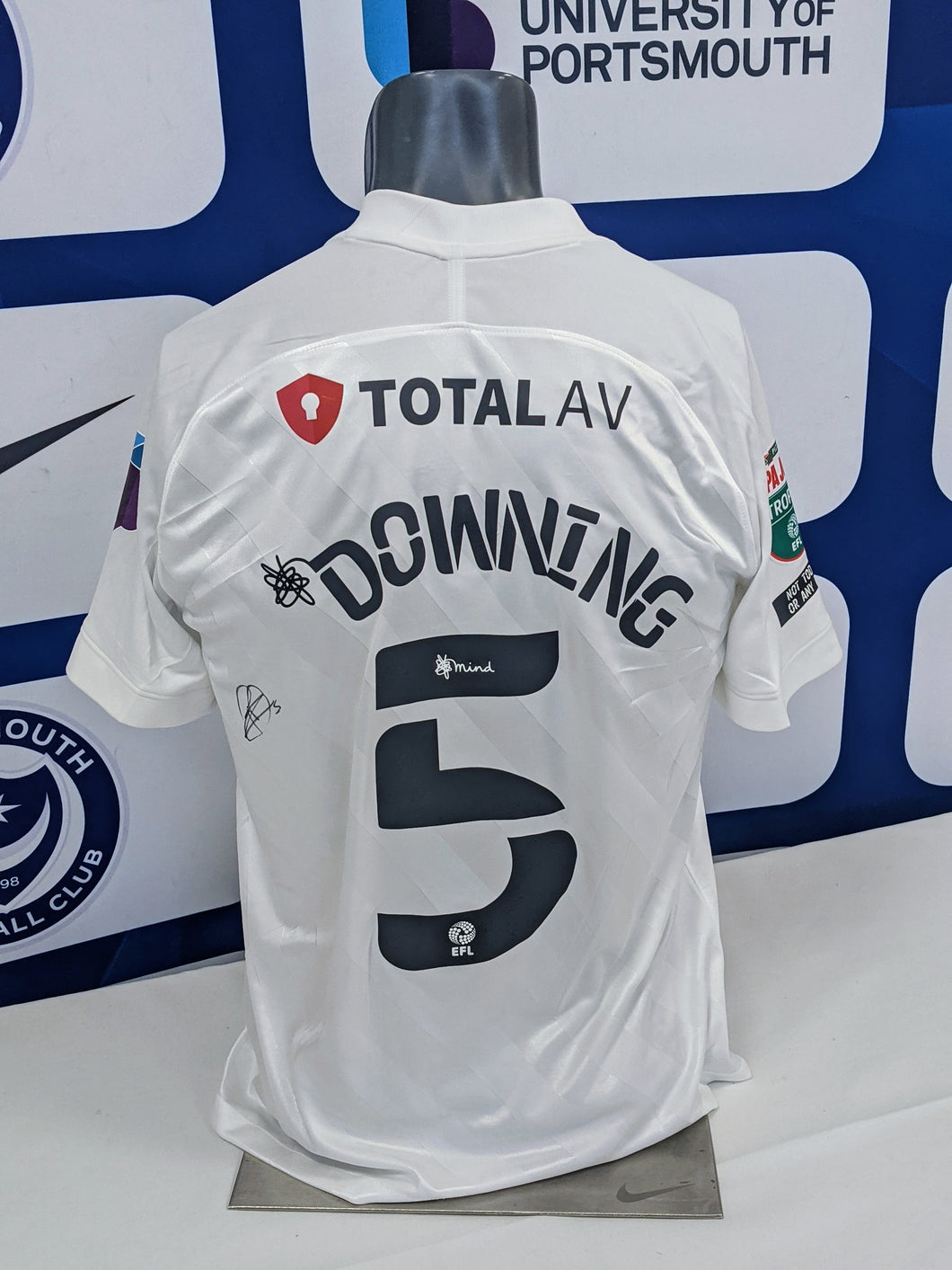 2020/21 Papa John's Wembley Final Paul Downing Signed Away Shirt