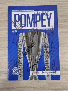 Official Checkatrade Trophy Programme V Gillingham, Signed.