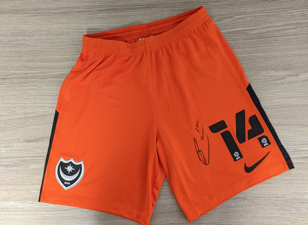 2020/21 Andy Cannon Signed Match Issued Third Shorts