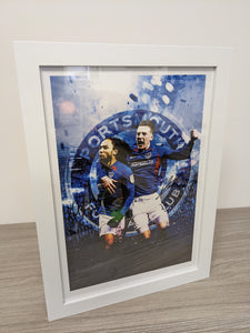 Limited Edition Signed & Framed Marcus Harness & Ronan Curtis Celebration Print