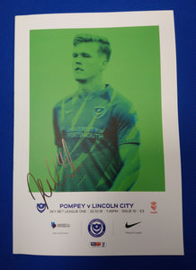 Tom Naylor Signed Portsmouth FC Match Day Programme Versus Lincoln City
