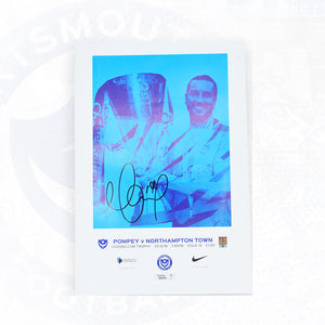 Leasing.com Trophy Signed Match Day Programme Vs Northampton Town