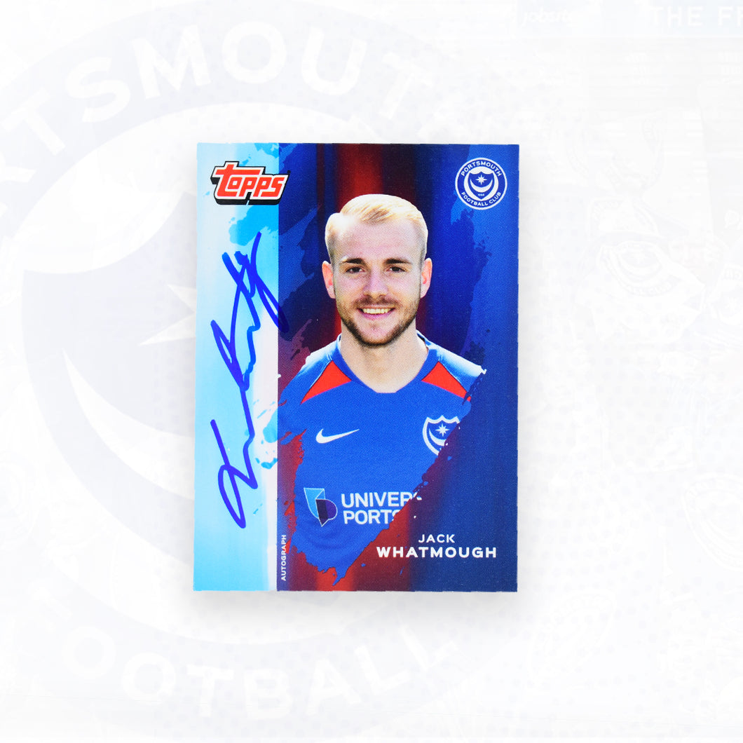 Jack Whatmough 2019/20 Signed Topps Card