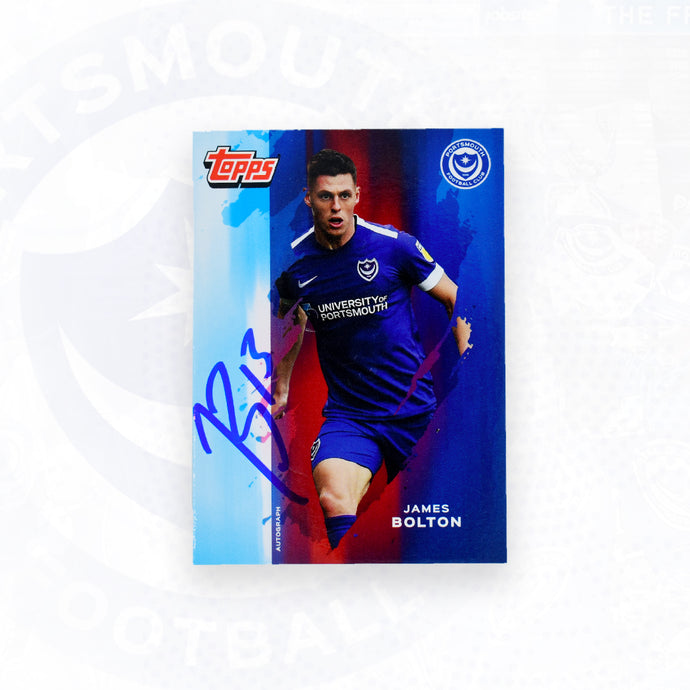 James Bolton 2019/20 Signed Topps Card
