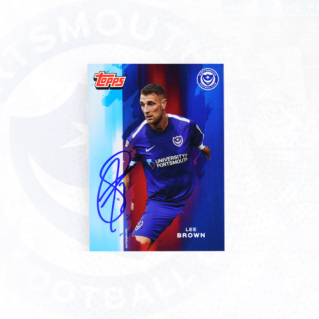 Lee Brown 2019/20 Signed Topps Card