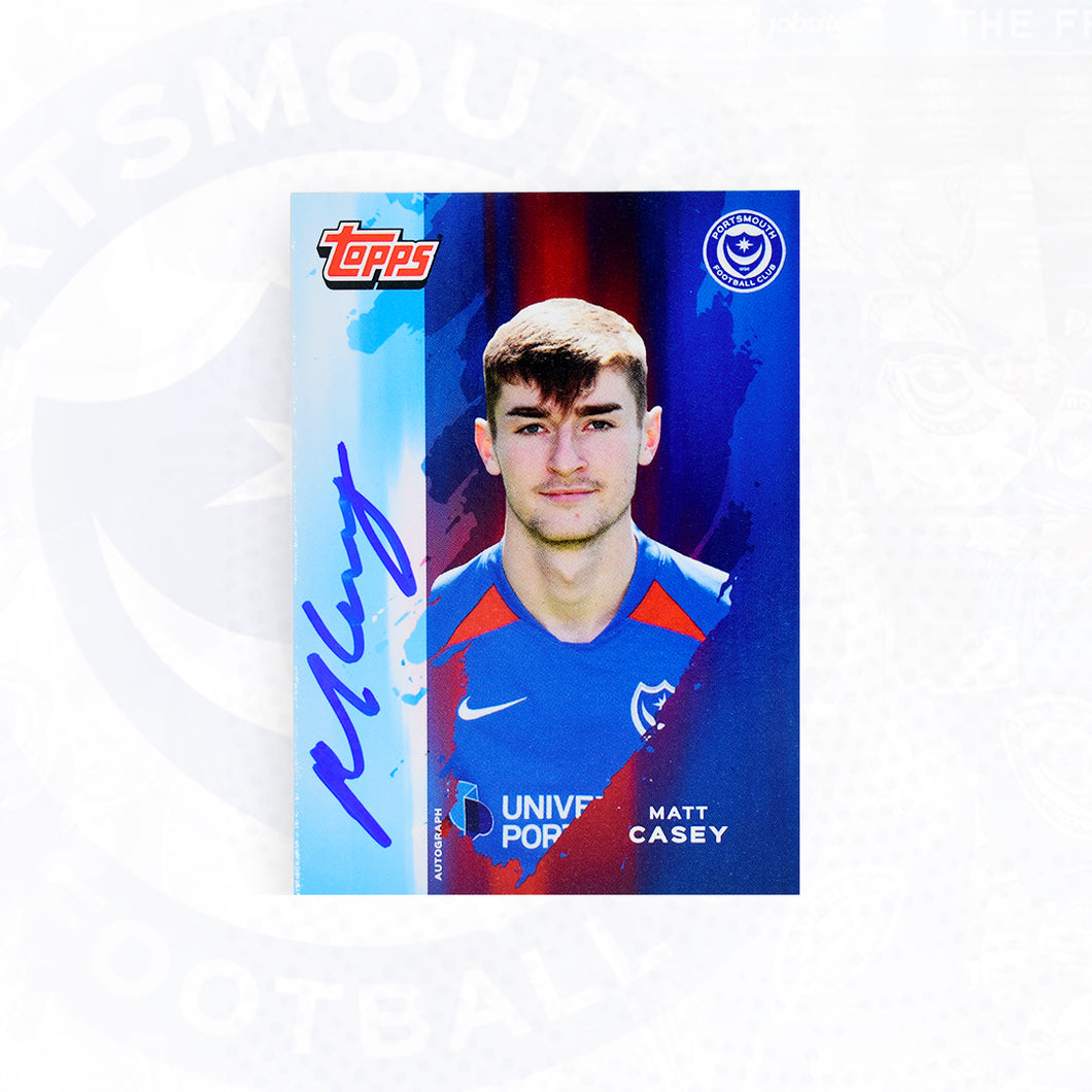 Matt Casey 2019/20 Signed Topps Card