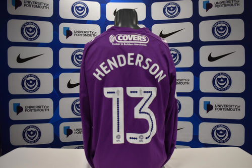 Stephen Henderson 17/18 Away Match issued Goalkeeper Shirt
