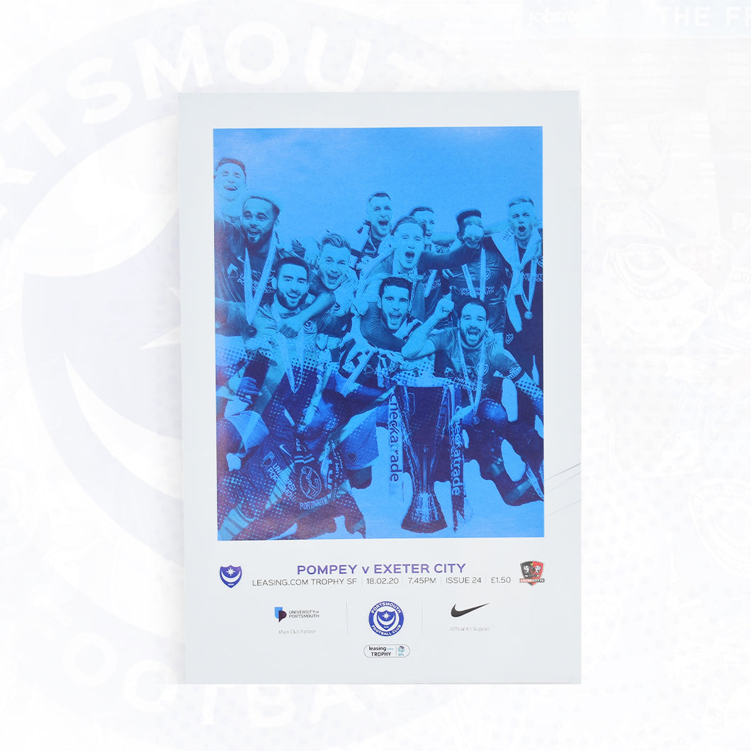 Leasing.com Trophy Match Day Programme Vs Exeter