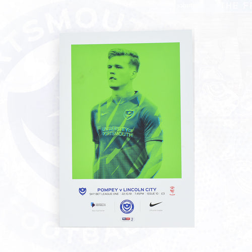 Portsmouth FC Match Day Programme Versus Lincoln City 22/10/2019