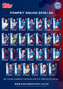 2019/20 Portsmouth FC 'Topps Collectable' Full Card Set Squad Pack