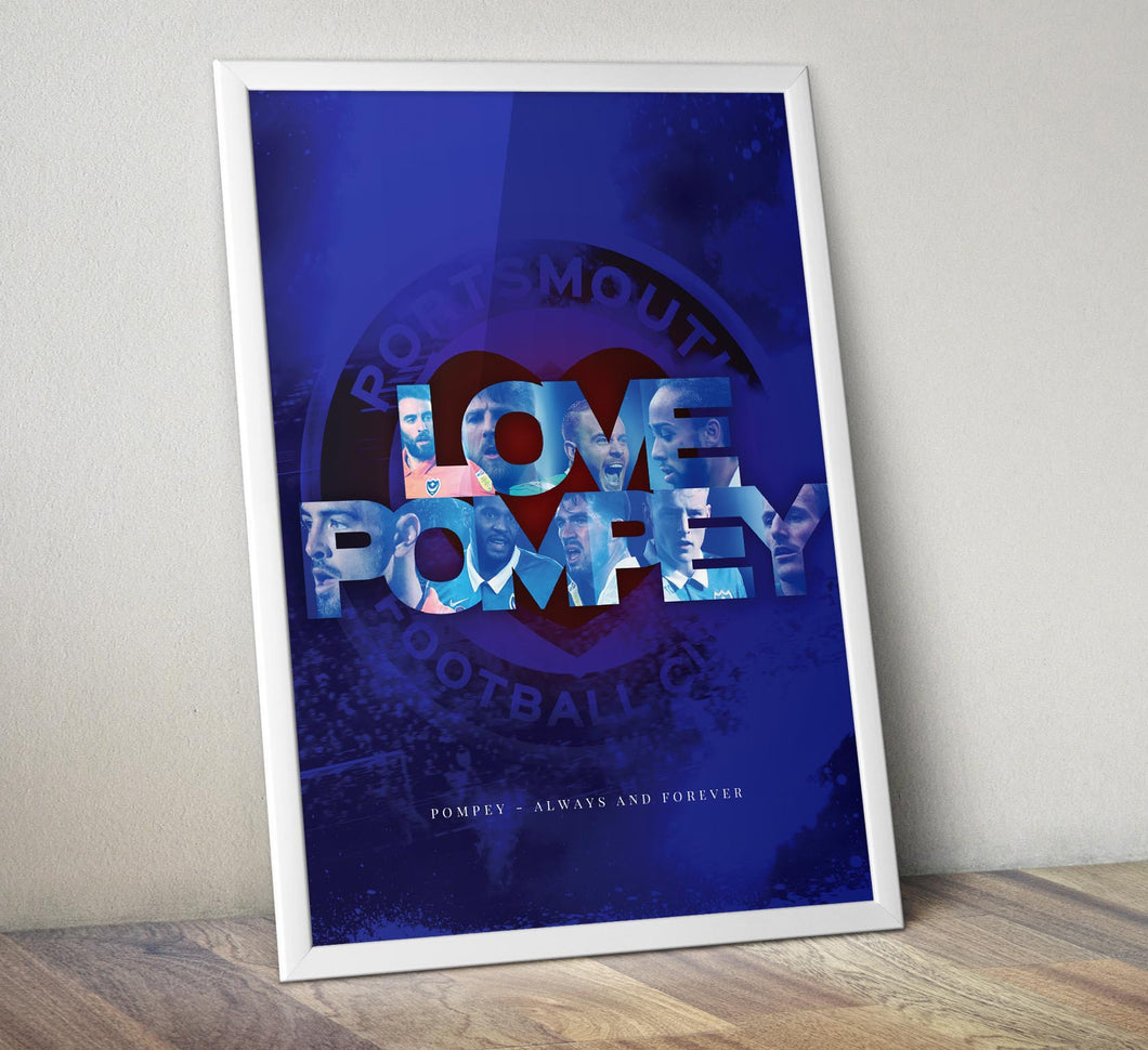 Framed Love Pompey Print