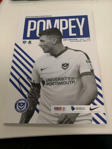 Signed Match Day Programme Vs Bristol Rovers FC