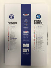Load image into Gallery viewer, Signed Portsmouth FC Match Day Programme Versus Wycombe Wanderers FC
