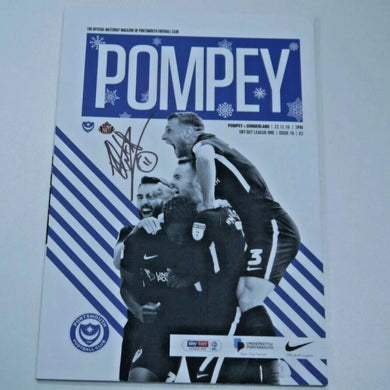 Signed by Ronan Curtis Match Day Programme Vs Sunderland FC