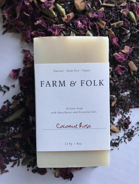 Coconut Rose Soap from Farm & Folk
