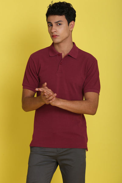 Aggie Texas Maroon Pique Men's Polo Tshirt