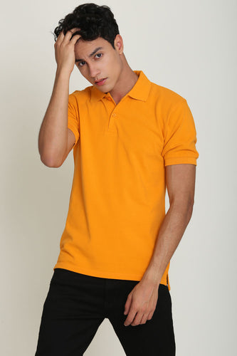Anglesey Ginger Orange Pique Men's Polo Tshirt