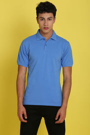 Charleston Parisian Blue Pique Men's Polo Tshirt