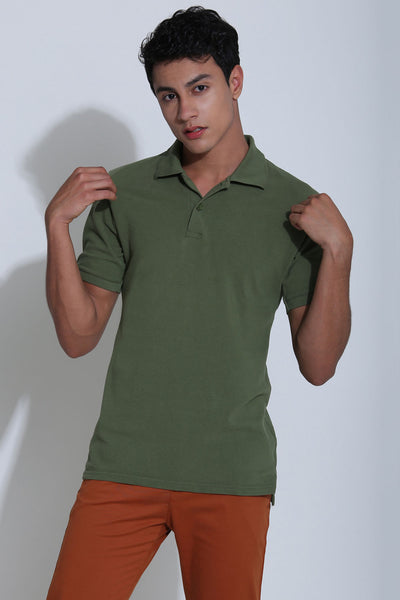 Dakota Sage Green Pique Men's Polo Tshirt