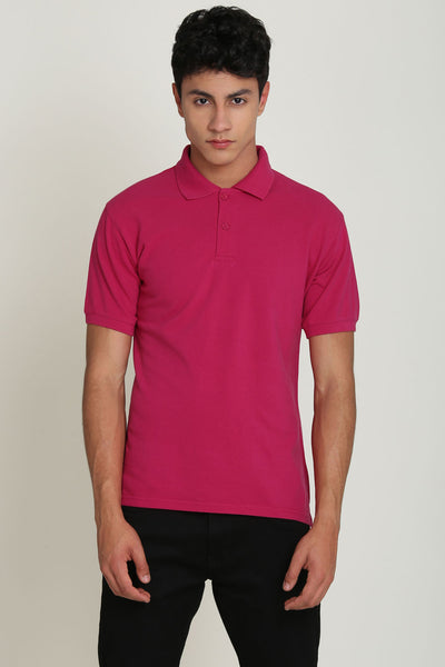 Millfield Yarrow Pink Pique Men's Polo Tshirt
