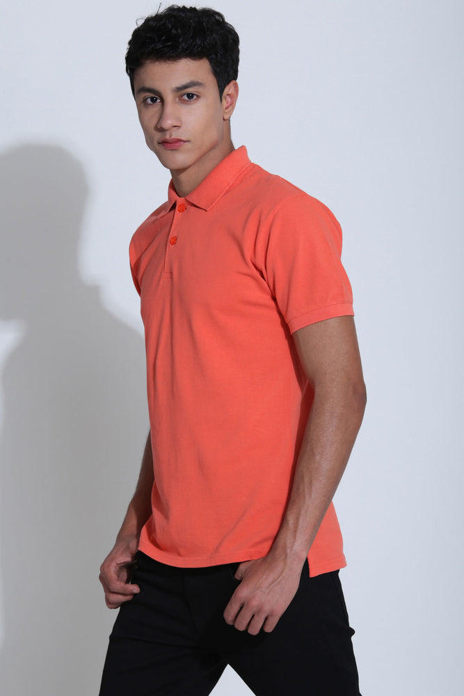 Northwood Salmon Coral Pique Men's Polo Tshirt