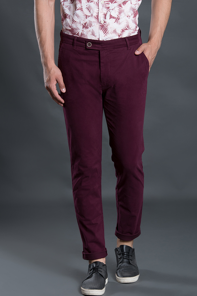 Wisconsin Plum Stretch Washed Men Chinos