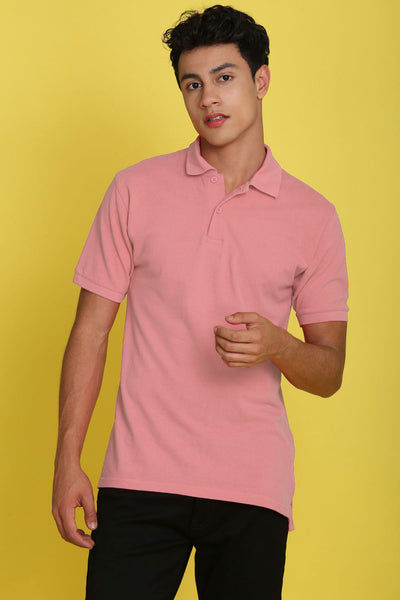 Tahoe Dogwood Pink Pique Men's Polo Tshirt