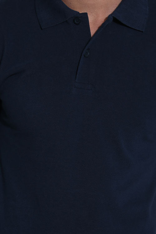 Timberline Navy Blazer Pique Men's Polo Tshirt