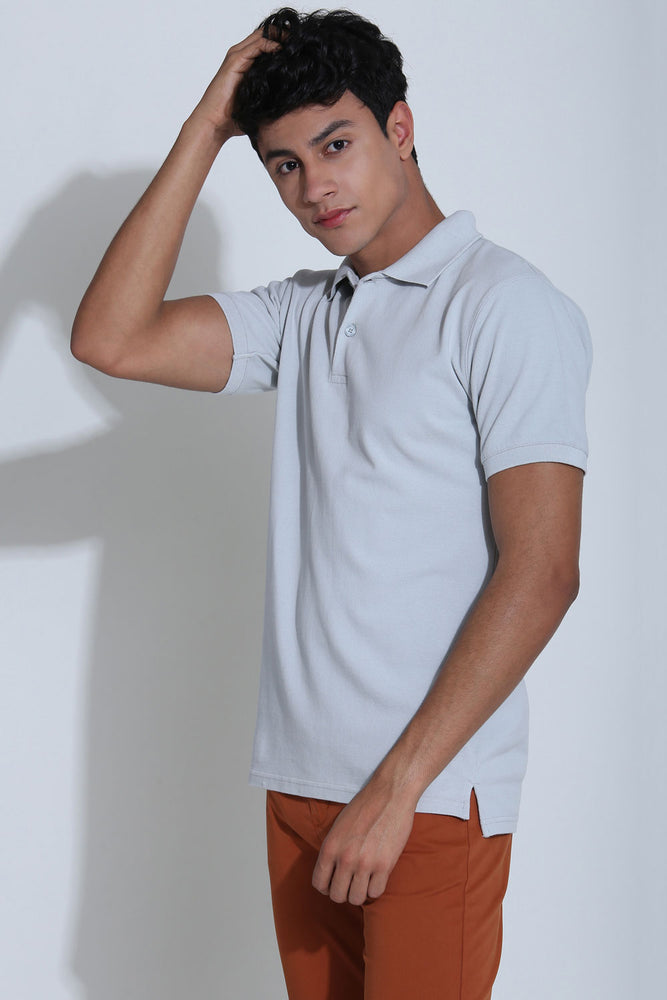 Winslow Ash Grey Pique Men's Polo Tshirt