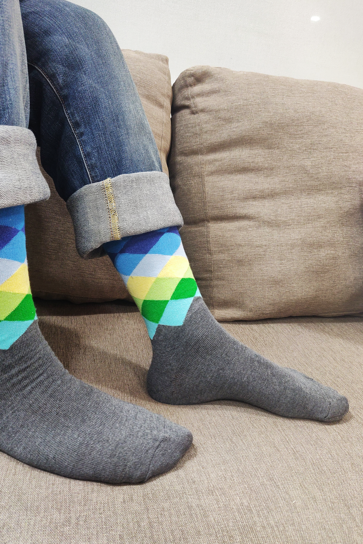 Windsor Argyle Colorful Men Socks