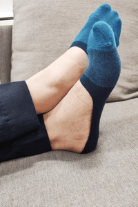 Ocean Blue No Show Men Socks