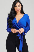 Load image into Gallery viewer, That's A Wrap Top - Royal Blue
