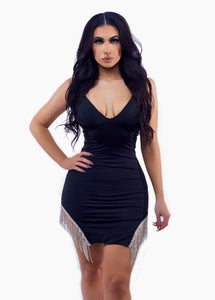 Give Me Diamonds Dress - Black