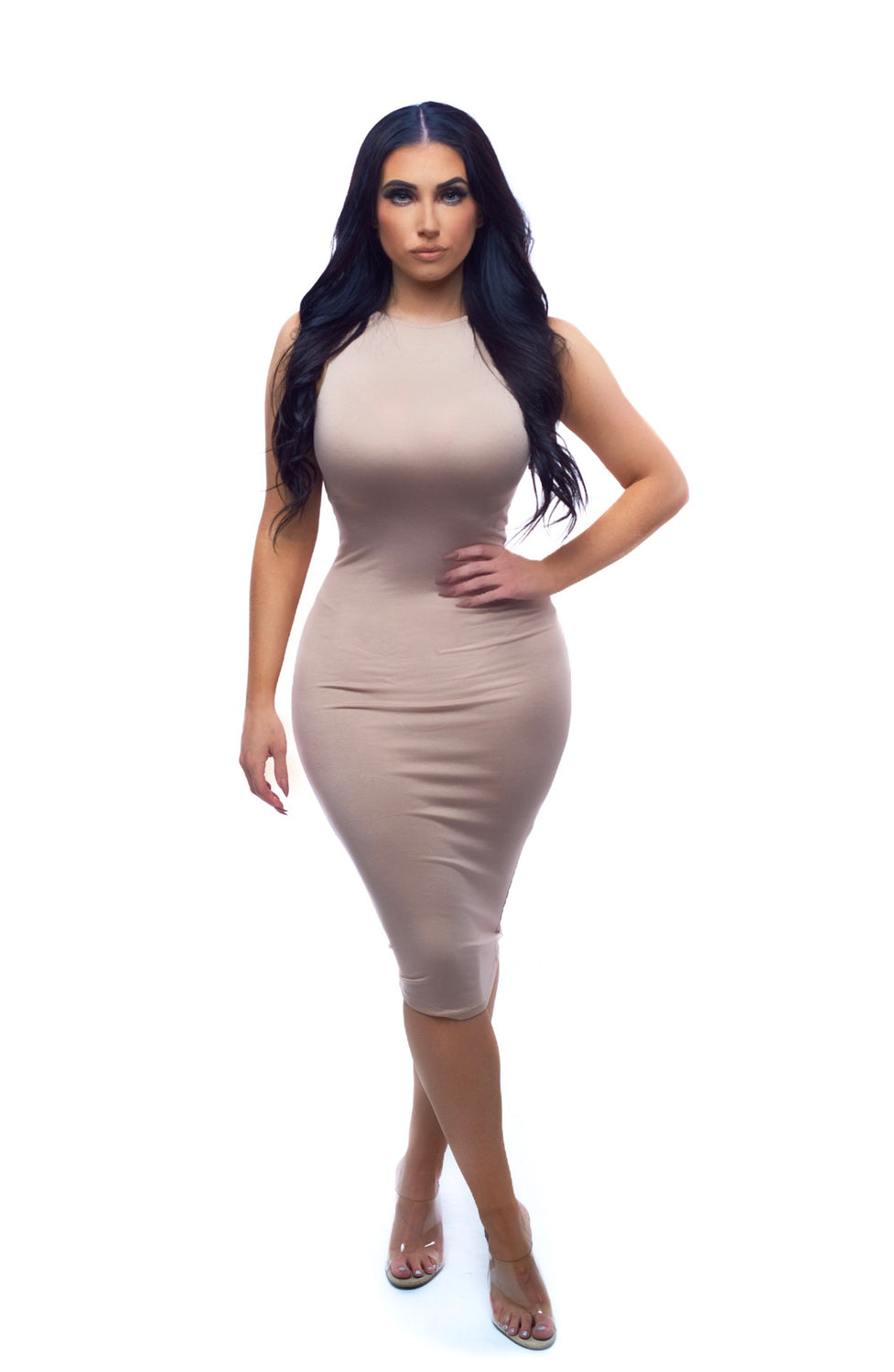 Bodycon Dress - Tan