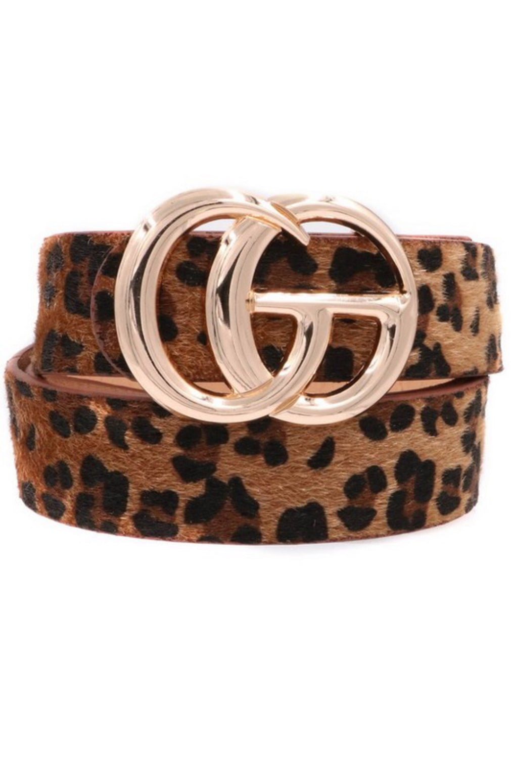 Leopard Belt - Brown