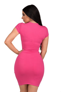 Basic B Dress - Hot Pink