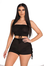 Load image into Gallery viewer, Tie Me Down Two Piece Set - Black