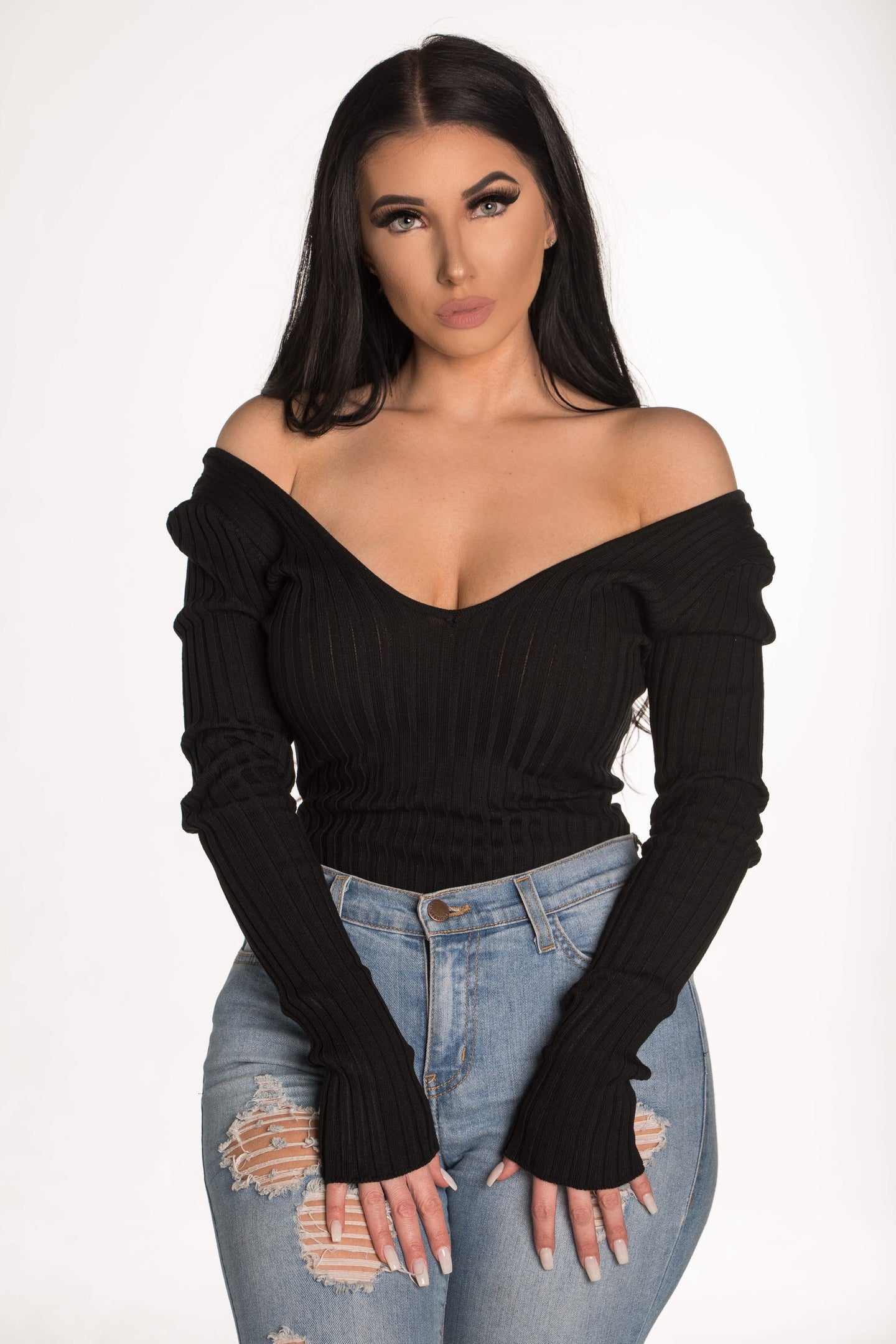 Show Off Bodysuit - Black
