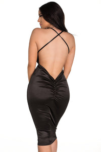 Scrunch It Up Dress - Black