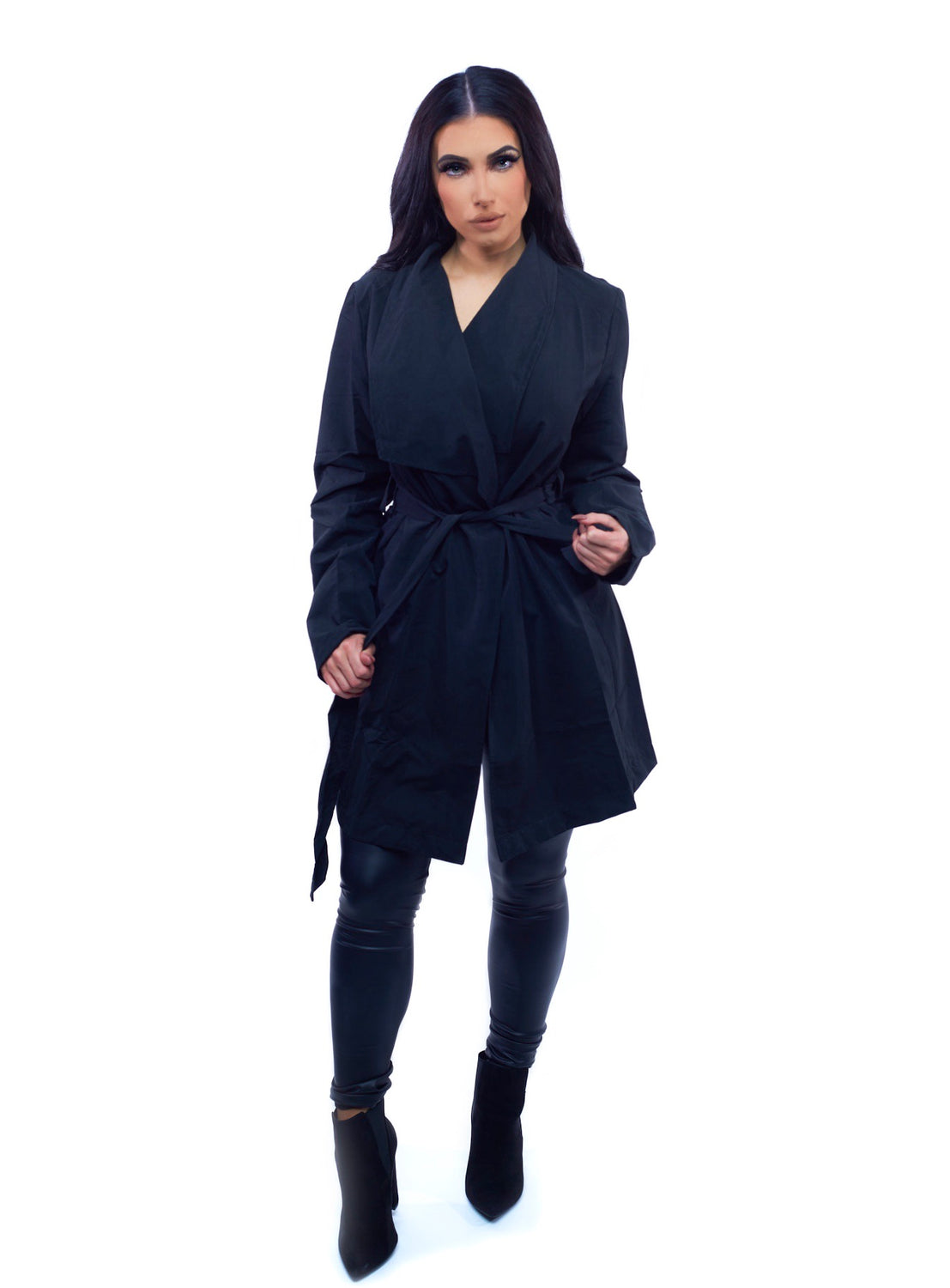 The Serena Trench Coat - Black