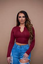 Load image into Gallery viewer, The Ryann Top - Burgundy