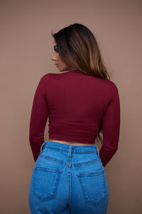 The Ryann Top - Burgundy