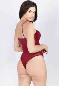 Run The World Bodysuit - Burgundy