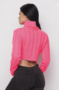 Fallin' For You Sweater - Pink