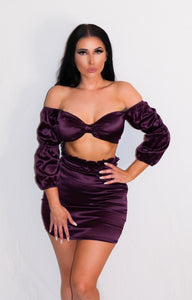 All Ruffled Up Set - Purple