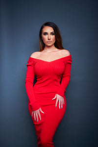 The Ellie Dress - Red