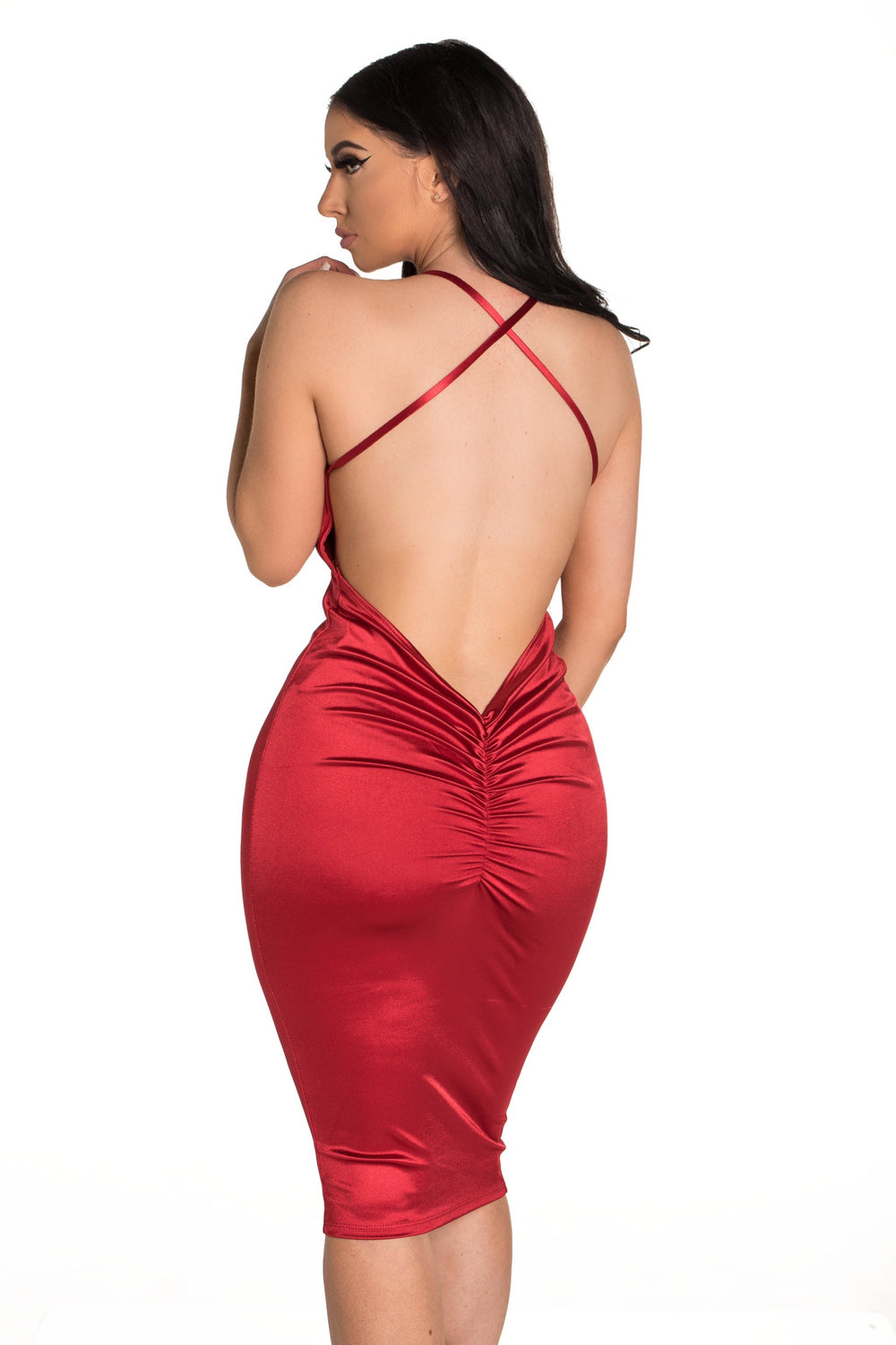 Scrunch It Up Dress - Red