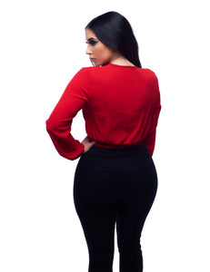 That's A Wrap Top - Red